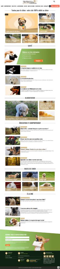 Page d'accueil toutoupour lechien